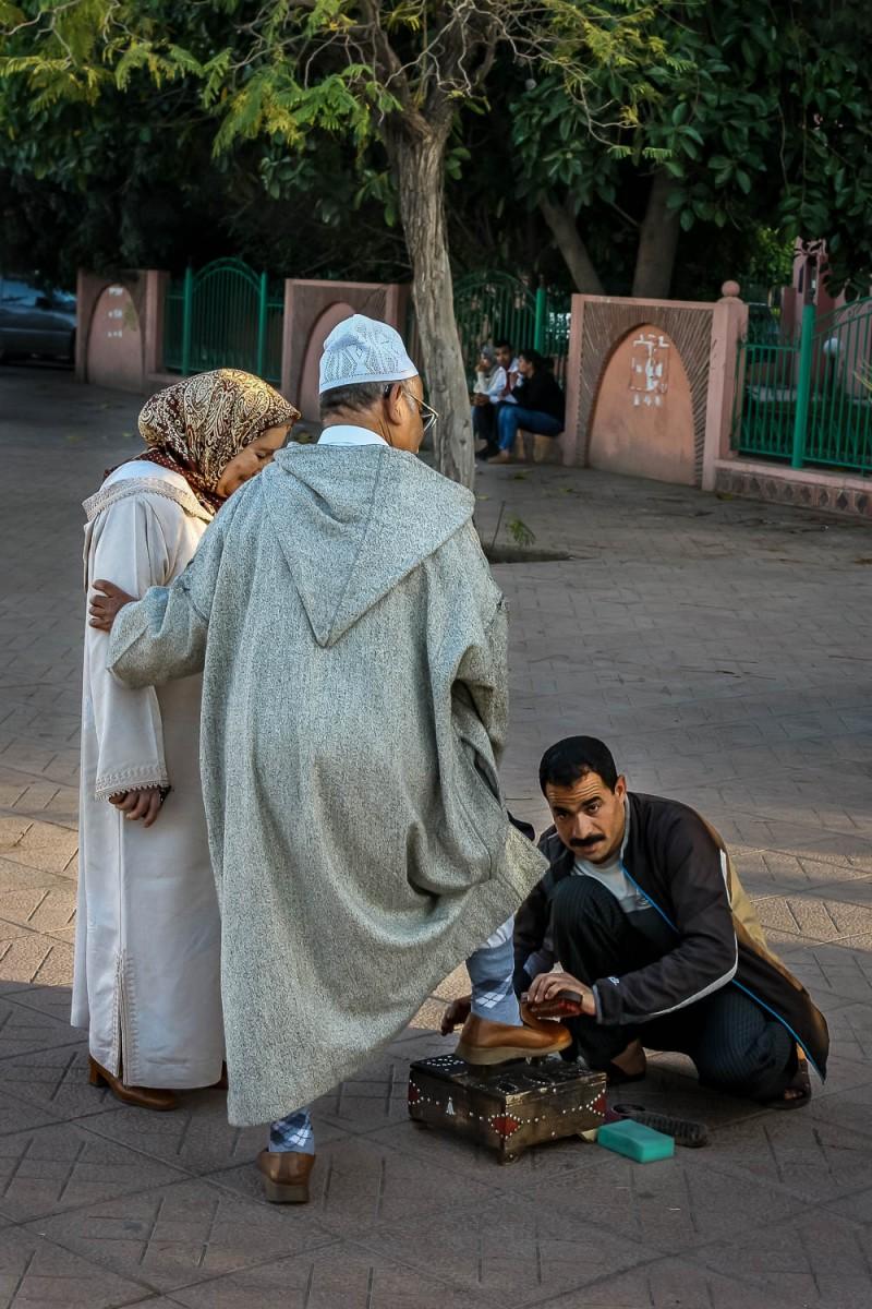 Shoe polish, Marrakech, Morocco.