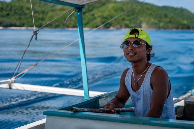 Bangka boat on Palawan, the Phillippines.