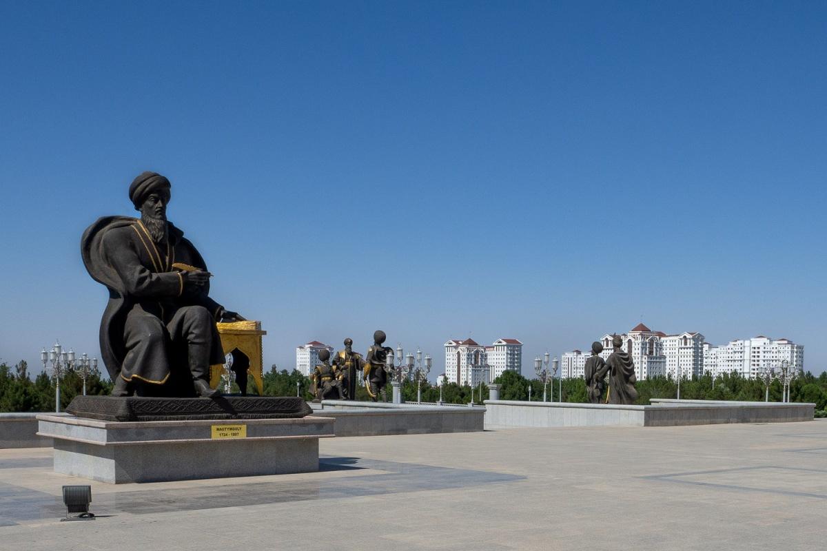Independance square, Ashgabat, Turkmenistan.